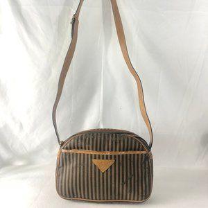 Fendi Authentic Vintage Striped Crossbody Bag